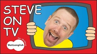 Surprise Steve and Maggie on TV for Children   EFL Story Time for Kids   Funny Wow English TV