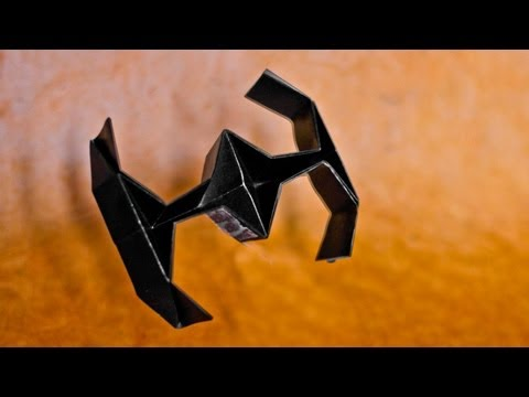 How To Make An Easy Origami Star Wars Tie Fighter - [[hd]] video
