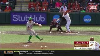Texas Tech vs Texas Baseball Highlights - Game 3