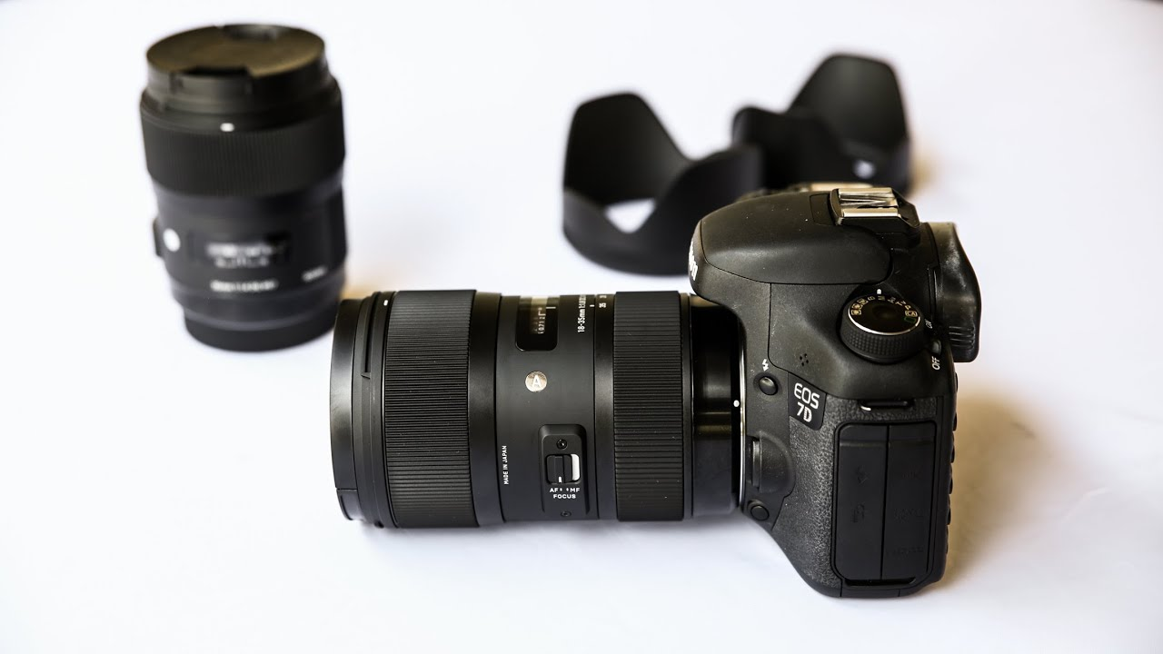 Lens Canon 35mm F1.8 Sigma 18-35mm F1.8 Hsm Lens