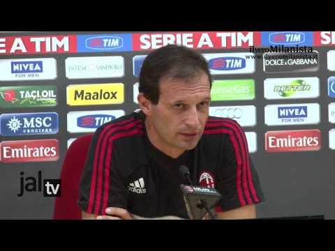 Conferenza stampa Massimiliano Allegri (pre Milan-Atalanta)