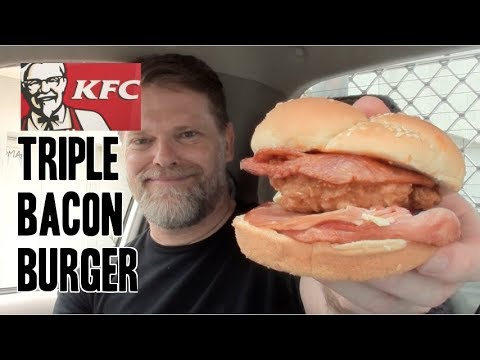 New KFC Triple Bacon Burger Review - Greg's Kitchen Australian Fast Food Reviews