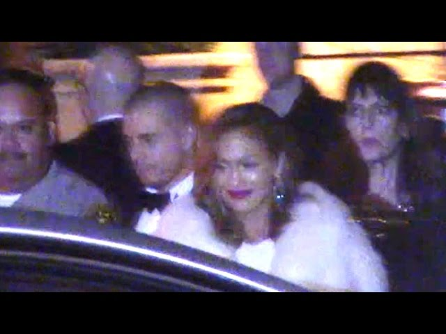 Jennifer Lopez And Casper Smart Looking Loved Up At Golden Globes Party