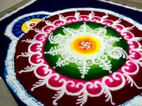 sanskar bharti rangoli, diwali 2011 - YouTube