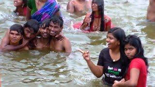 Telangana Krishna Pushkaralu Beechupally Rangapur Ghats India HD Video