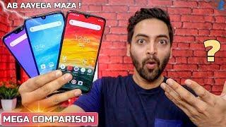 Redmi Note 7 vs Zenfone Max Pro M2 vs Realme 3 - Camera,Performance,Widevine,Display,Battery & More