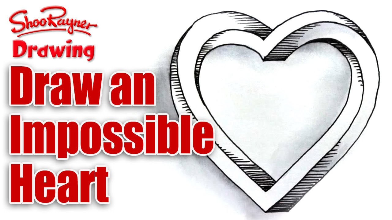 How to draw an impossible heart for Valentine