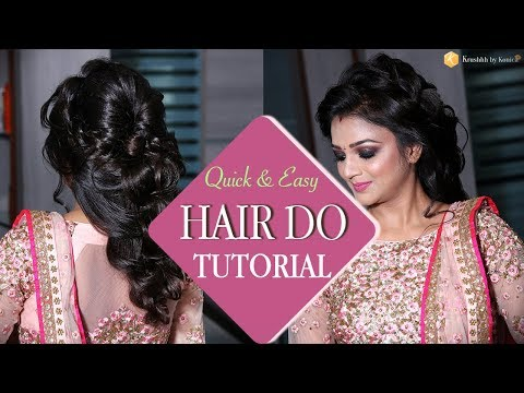 Quick and Easy Braided Hairstyle | Step by Step Hairstyle Tutorial Videos | Krushhh by Konica
