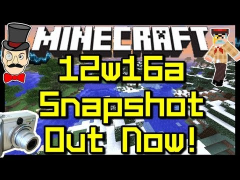 Minecraft 12w16a SNAPSHOT Out Now !