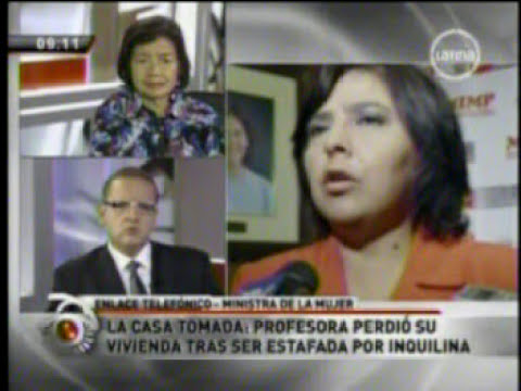 Ministra de la Mujer Ana Jara se solidariza con profesora que perdió su casa con triquiñuela