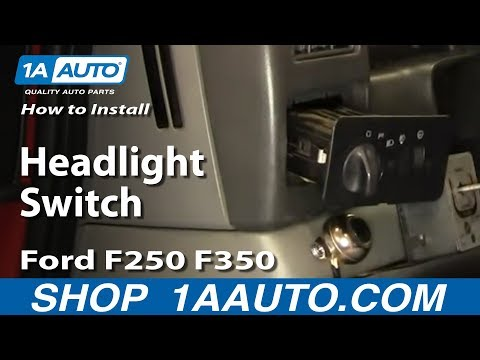 How To Install Replace Headlight Switch Ford F250 F350 01-04 1AAuto.com