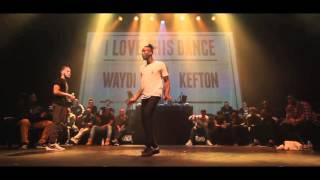 Waydi Criminalz Crew VS Kefton I love this dance all star game 2015 Hip Hop Battle