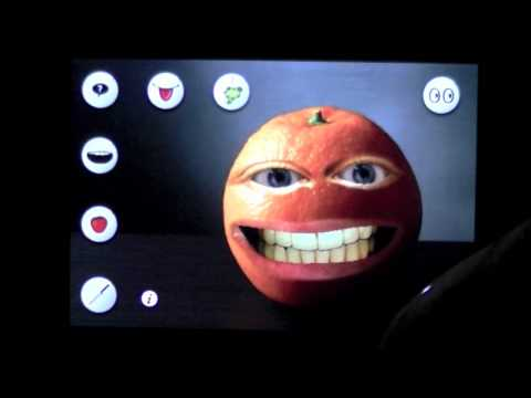 Annoying Talking Orange iPhone App Video CrazyMikesapps.com