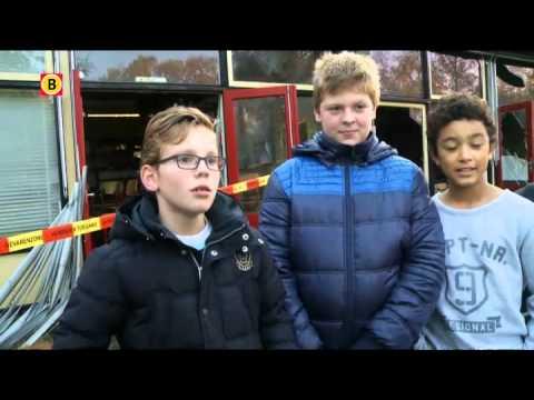 Een grote brand heeft vanochtend delen van basisschool De Stokland in Breugel verwoest
