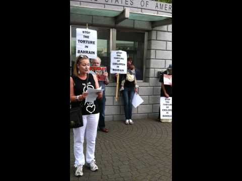 Bahrain Protest in solidarity with Prisoners of Conscience outside US Embassy, Dublin, IRELAND