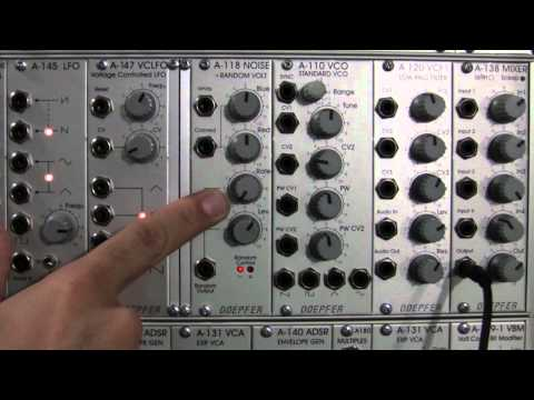 Doepfer A118 Filtering with A120 VCF Low Pass Filter Part One