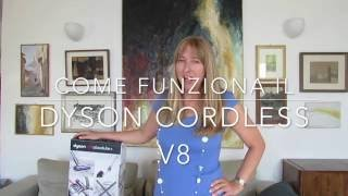 Dyson Cordless V8 e un gatto - unboxing & test cakemaniaco!