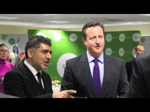 Start-Up Loans - James Caan and David Cameron at the Preston announcement, January 2013