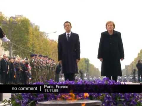 Merkel makes history in Paris on Armistice Day