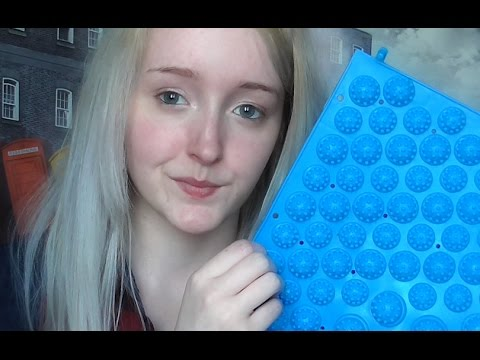 ASMR Foot Massage Mat Ramble & Review - Plastic Scratching - Soft Spoken (Short)