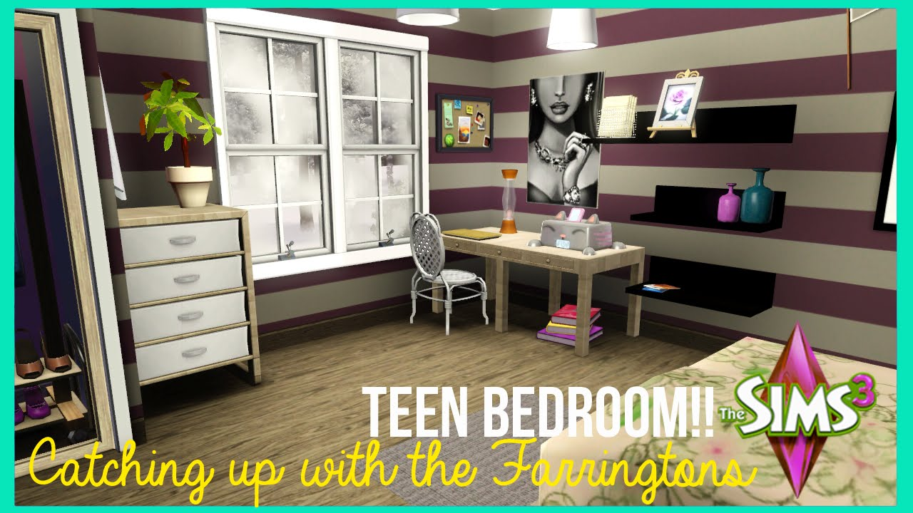The sims 3 teen bedroom catching up with the for Sims 3 home design ideas