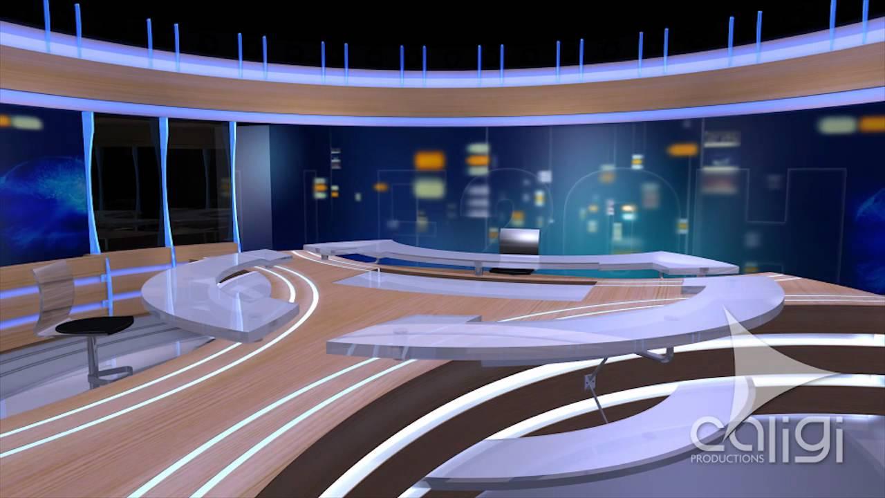 Plateau 20H TF1 2011 Modélisation 3D - YouTube