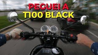 PEGUEI A BONNEVILLE T100 BLACK | AVALIAÇÃO NO TRÂNSITO