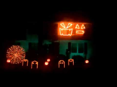 2013 Halloween Light show   Bangarang   Skrillex - Manchester NJ