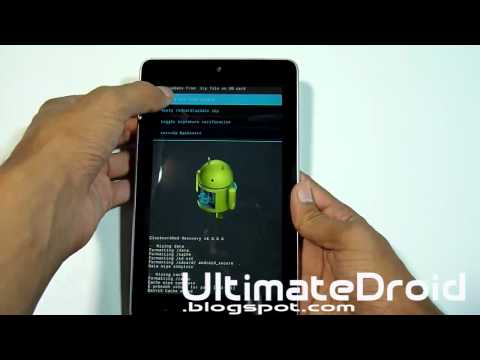 How to Install Paranoid Android ROM for Nexus 7