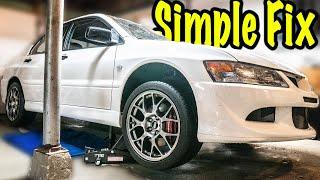 My Simple Mitsubishi Evo 8 Exhaust Rattle Fix!
