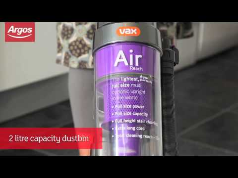 Vax U90-MA-R Air Reach Bagless Upright Vacuum Cleaner Argos Review