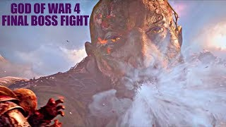 God Of War 4 Final Boss Fight|PS4 Pro 1080p Full HD|TheDamnation.