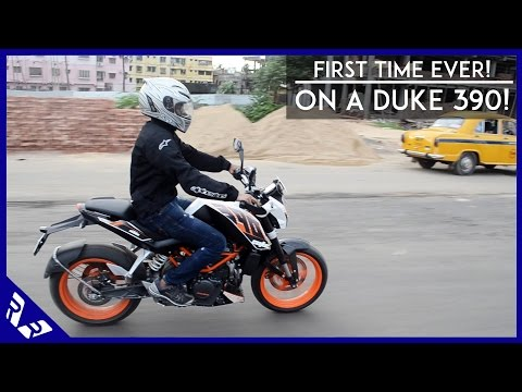 KTM 390 Duke India first ride & stock exhaust sound