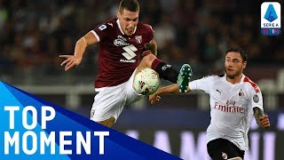 Il Gallo scores stunning close-range overhead kick goal | Torino 2-1 Milan | Top Moment | Serie A