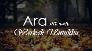 download lagu Warkah Untukku - Ara Af 2016 gratis