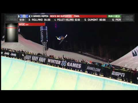 X Games Aspen 2013: David Wise Ski SuperPipe Gold