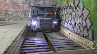 DUMP TRUCK! Test the new Bridge with over 35kg! RC KOMATSU HD405