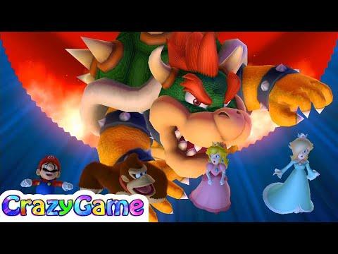 Mario Party 10 Bowser Party #36 Bowser vs Mario, Donkey Kong, Peach and Rosalina (Whimsical Waters)