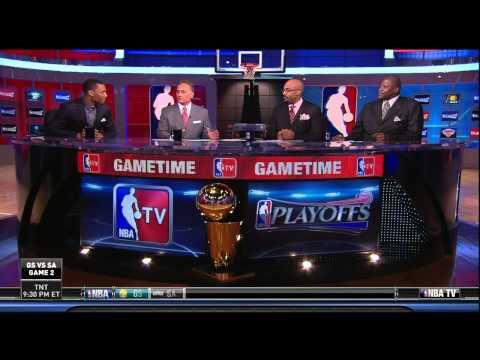 Damian Lillard joins the set of NBA TV