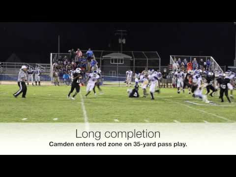 Long completion, Camden vs. Plymouth, Sept. 18, 2015