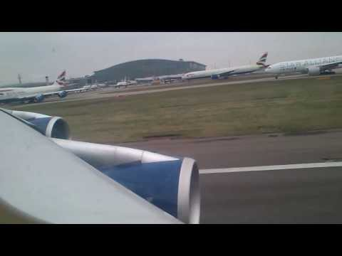 *Take Off British Airways plane from London Heathrow Airport* ****HD**** ***Awesome view*** :)