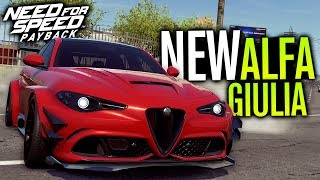 NEW Widebody Alfa Romeo Giulia CUSTOMIZATION | Need for Speed Payback