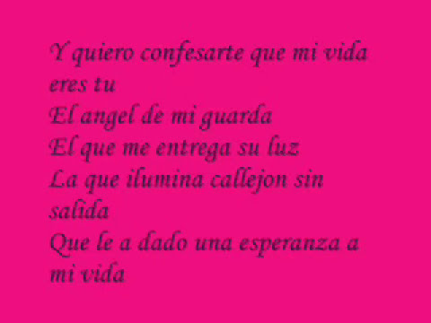 mi vida eres tu - el dragon ( lyrics )