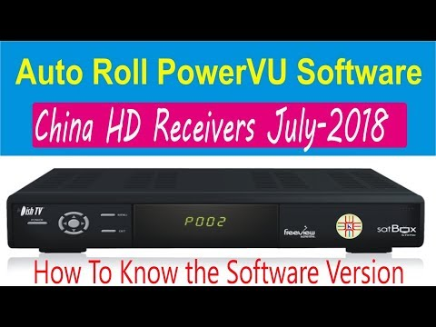July-2018 New PowerVU Software of China HD Satellite receivers HW/SW and Installation Guide in Urdu