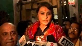 Rani Mukherjee in kolkata to promote her film Mardani