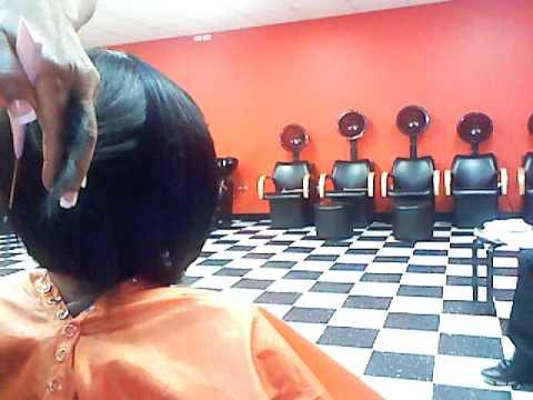 HAIR CUT DEMO ON QUCIK WEAVE BOB