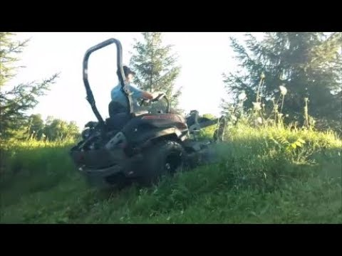 Spartan SRT-HD Climbs 40° Slope While Cutting 3ft Weeds