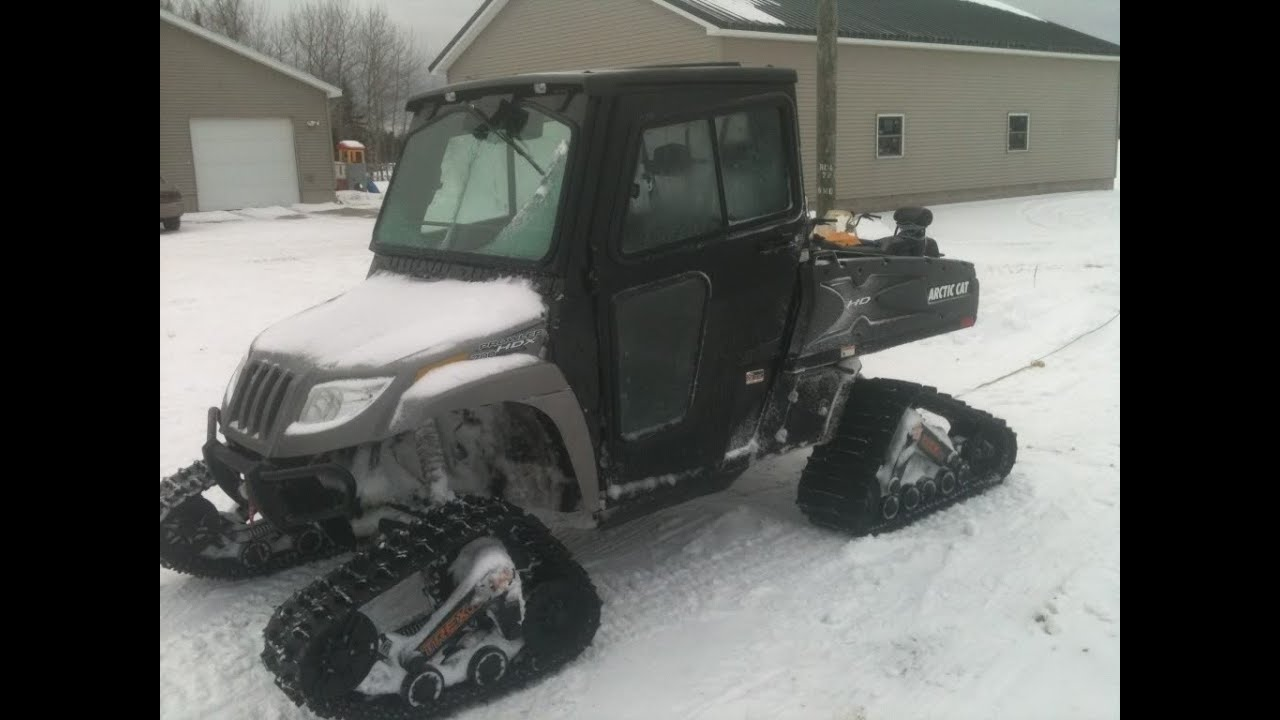 Arctic Cat Prowler 700 With Tracks In Deep Snow Test Youtube