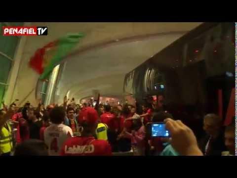 FC Penafiel: Festejos da subida no Aeroporto