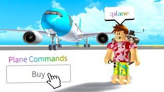 I Bought PLANE COMMANDS and IT GOT CRAZY.. (Roblox Flight Simulator)